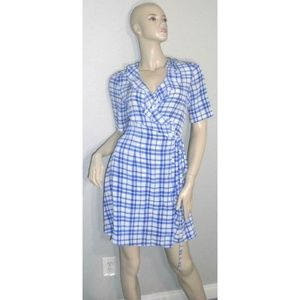 Diane Von Furstenberg Savilla Plaid Wrap Dress 4